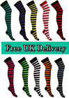 Womens Over The Knee Striped Socks Thigh High Ladies Girls Stretch 4 - 6.5