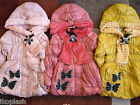 Butterfly Design Winter Fall Girls Coat Size 6-7-8-09 years Old 03 x Colors