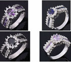 Size 8,9,10,11 Jewelry Nobby Mix-Color 10KT White Gold Filled Ring Wedding Gift