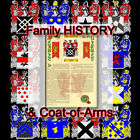 Armorial Name History - Coat of Arms - Family Crest 11x17 BERNIER-TO-BRINKMAN