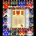 Armorial Name History - Coat of Arms - Family Crest 11x17 MOYA-TO-OSBORNE