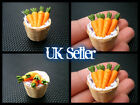 DOLLS HOUSE MINIATURE FOOD HANDMADE VEGETABLE BASKET OF CARROTS 1/12th SCALE UK