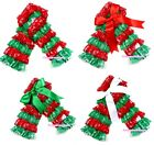 Xmas Baby Girl Hot Red Green Lace Leg Warmer Muffle Legging For Pettiskirt 2-6Y