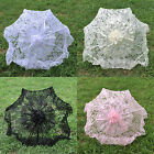 "White/Pink 24"" Deluxe Bridal Lace Parasol Wedding Umbrella Bridal Accessories"