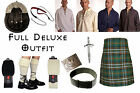 8 Yard Scottish Kilt Package, Complete Deluxe Casual Outfit, Heritage of Ireland
