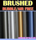 【BRUSHED】Vehicle Wrap Vinyl Sticker【 750mm x 300mm Air Free】SMALL SIZE