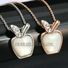 P342 Fashion Opal Apple Necklace Pendant 18K GP use Swarovski Crystal