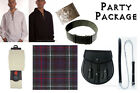 Party Package, Scottish Kilt, Complete Casual Outfit, MacKenzie Tartan