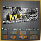 ' Music Logo With Cigarate And loudspeakers ' Music Canvas Wall Art Deco