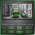 ' London Bus & Taxi ' Modern Abstract Contempory Wall Art Canvas ~ More Style