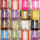 """2 Sheer Voile Window Panel Curtain Drape treatment Scarf Assorted Color 60""""X84"""""""