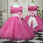 USMD58 L. Pink Pageant Formal Wedding Christmas Flower Girls Dress 1 to 13 Yrs
