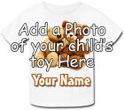 CHILDS / KIDS  FAVOURITE BEST TOY PERSONALISED TSHIRT - PHOTO OF YOUR CHOICE !!!