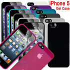 Hard Wearing TPU Silicone Gel Skin Case For iPhone 5, 5S, SE Glossy Gloss Cover