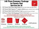 RED Party Supplies Package - cutlery,plates,cups,napkins,WHOLESALE LOT Tableware