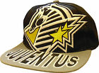 NEW MENS BOYS JUVENTUS KAPPA PEAKED CAP ADHESIVE TEAM BADGES ADJUSTABLE UNISEX