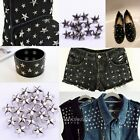 200pcs Fashion Star design Punk Rock Stud Rivet Spike for bag/shoes/clothes DIY