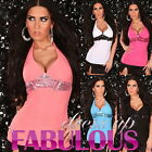 SEXY WOMEN'S PADDED HALTER TOP SIZE 6-8-10 HOT PARTY CASUAL CLUB WEAR CLOTHING