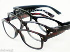 +1.0 +1.5 +2 +2.5 +3 Reading Glasses RETRO TRENDY FASHION Tortoiseshell / Black
