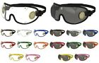 KROOPS Brass Vented Skydiving Parachute Goggles | Clear+Tinted Lens| FREE UK P&P