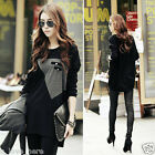 Korean Fashion Women's Loose Large Size Long Sleeve Casual T-shirt Tops Blouse