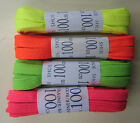 Neon Flat Laces - 1 Pair per pack - 100cm - *Pink, Green, Yellow, Orange*