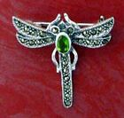 Sterling Silver DRAGONFLY Pin w/ Stone Choice