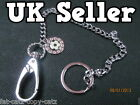 NEW FOOTBALL THEME FASHION 32CM LONG METAL KEYCHAIN BIKER PUNK KEYRING UK SELLER