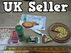 12th SCALE ORCARA DOLLS HOUSE MINIATURE FAST FOOD TAKE AWAY SET PIZZA FIZZY POP