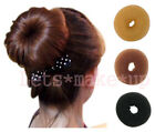 Sexy Lady girls popular Hair donut bun buns ringe black brown blonde 9 Style