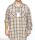 AKADEMIKS Button Up New $56 Cole Roll Up Red Plaid Shirt Choose Size Big & Tall