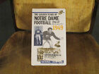 THE GOLDEN YEARS OF NTRE DAME FOOTBALL  1946-49 SET OF 4 VHS NEW (NOT CC)