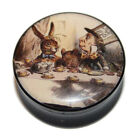 Alice in Wonderland 'Mad Hatters Tea Party' Acrylic Flared Saddle Ear Plug 6-25m