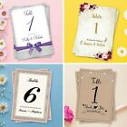 Wedding Table Numbers or Table Names Personalised *free draft*  Stationery avail