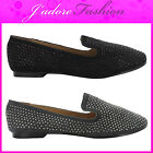 NEW LADIES FLAT BALLERINA STUDDED DOLLY  BALLET PUMPS SHOES SIZES UK 3-8