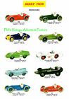 Vintage Dinky Racing Cars Poster 1958 A3 or A4 Art Reprint
