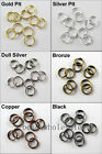 GBP 0.99 Silver/Golden/Copper/Black Metal Split Jump Rings Jewelry Making