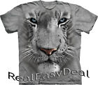 Child WHITE TIGER The Mountain T Shirt Animal All Sizes From 4 -14 Years 15-3252