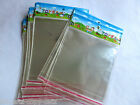 100x CLEAR CELLOPHANE PEEL & SEAL SELF ADHESIVE PLASTIC DISPLAY BAGS 15cmx13cm