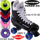 SUPREME Turbo 33 Quad Roller Skates with Sims Street Snake Wheels 4uk - 13uk