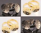 10Pcs Golden/Silver Plated Metal base Adjustable Economical Ring Findings