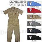 DICKIES 33999BK COVERALLS SHORT SLEEVE MENS BLACK KHAKI NAVY GREY RED DN GY NEW