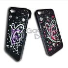 BUTTERFLY RHINESTONE DIAMANTE STYLE HARD BACK CASE COVER FOR APPLE IPHONE 5