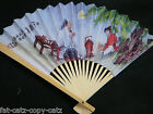 CHINESE GEISHA FANCY DRESS COSTUME WHITE PAPER & WOOD FANS WEDDINGS PARTIES GIFT