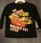 """INFANT  DISNEY/ CARS """"THE RACE IS ON! BRING IT!"""" T-SHIRT  SIZE 6-9 MONTHS   NWT"""