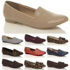 WOMENS LADIES FLAT LOW HEEL SLIP ON BROGUE SLIPPERS LOAFERS PUMPS SHOES SIZE