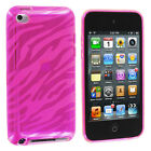 TPU Zebra Color Rubber Skin Case Cover for iPod Touch 4th Gen 4G 4