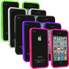 Color TPU Bumper Rubber Transparent Jelly Gel Skin Case Cover for iPhone 4 4S 4G