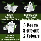 50 Wedding Money Gifts Poems Cards 3 Designs Choices of 5 Poems