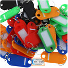 KEY TAGS Assorted Coloured Plastic Rings for ID Tags Card FOB Label Car Identity